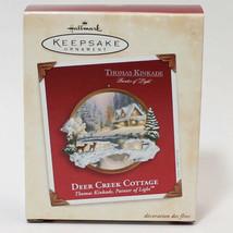 Hallmark Keepsake Thomas Kinkade 2002 Deer Creek Cottage Christmas Ornament - $11.29