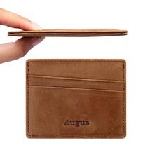 Men leather Card Holder Front Pocket Wallet with RFID Blocking - $24.54