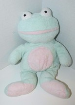 Ty Pluffies GRINS Frog Plush Green Pink Froggy Stuffed Animal 2002 Tylux... - $5.93