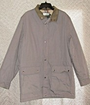 Vintage Fieldmaster Mens Winter Coat Size X-Tall Large Gray Lined Zippered - $39.58