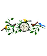 Decorative Two Birds Wall Clock with flower - $98.99