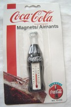 Coca-Cola Magnet Bottle Shaped Thermometer NOS 1995 Original Packaging - $12.99