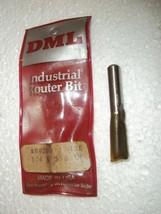 """Pristine Dml Industrial Router Bit 1/4 X 3/8 Carbide 1.75"""" Long #00200 2 Flute - $13.36"""