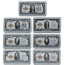 WR US 1875 $1-$100 Colored Silver Art Bar First National Bank of Lebanon... - $15.10