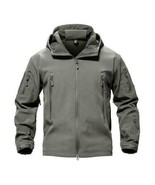 new TACVASEN Army Gray Airsoft LARGE Men Military Tactical Jacket Winter... - $66.64