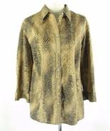 RALPH LAUREN Plus 2X Reptile Print Cotton 3/4 Sleeve Shirt Blouse EUC - $23.99