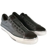 Converse John Varvatos Vintage Canvas Chuck Taylor Slip on Sneaker GRAY ... - $47.96