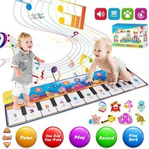 Retruth Kids Musical Mat Toys, Piano Mat Keyboard Dancing Mat with 8 Instrument