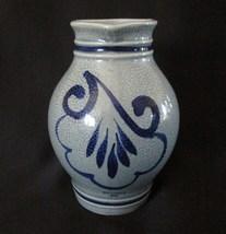 """Vintage Kossinger-KG 8306 Schierling Gray And Blue 5-3/4"""" Pitcher, 1985 - $6.95"""