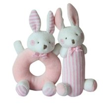 Cute Baby Stuffed Animals Infant Toys Toddler Plush Toys Bears Set Pink