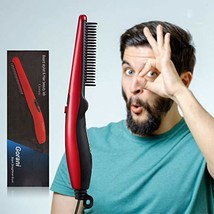 Beard Straightener Brush Comb for Men, Ergonomic Beard Brush Straightening Elect