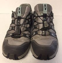 Women's Salomon XA Comp 7 Trail-Running Hiking Athletic Shoes Size 6.5 Gray Teal image 3