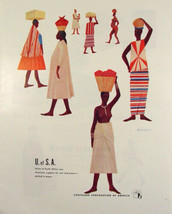 1945 SOUTH AFRICA People CONTAINER CORP OF AMERICA David Hill Art PRINT AD - $9.99