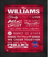 """Philadelphia Phillies """"Family Cheer"""" 13 x 16 Framed Print - $39.95"""