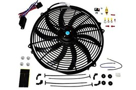"""A-Team Performance 16"""" Electric Radiator Cooling Fan Wide S-Curved 10 Blades The"""