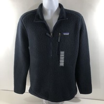 Patagonia Men's Retro Pile 1/2 Zip Pullover Jacket Navy Blue Fleece MEDI... - $163.34