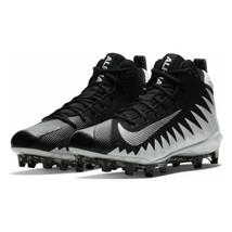 Nike Mens Alpha Menace Football Cleats Black White New 871451-103 Size 15 - $39.59