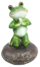 Ebros Frog Leap Of Faith Starts With Prayer On Both Knees Figurine Inspirational - $18.94