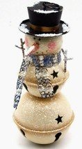 HOLIDAY TABLETOP DISPLAY WINTER METAL ART SNOWMAN CHRISTMAS FIGURINE 9.5... - $34.19