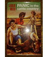 SIGNED Panic In The Cattle Country Leslie Rees Hc/dj 1974 - $15.79