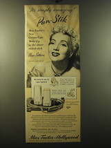 1949 Max Factor Pan-Stik Make-up Ad - Ann Sothern - It's simply amazing!  - $14.99