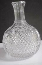 ABP cut glass carafe strawberry diamond fan American brilliant C8 - $64.17