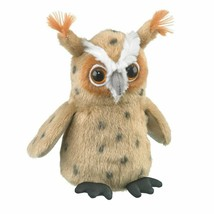 "Wildlife Artists Great Horned Owl Plush Finger Puppet Toy, 5.5"" Great Ho... - $8.18"