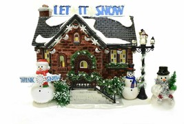 Department 56 Snow Village Christmas Lane The Snowman House 55390 BRAND NEW - $149.14
