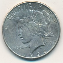 1928-S PEACE SILVER DOLLAR-VERY NICE GENTLY CIRCULATED DOLLAR-SHIPS FREE... - $65.95
