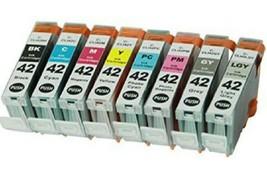 8 Pack Printer Ink Cartridge Combo full Set for Canon Pixma CLI-42 Pixma Pro 100 - $33.99