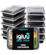 Meal Food Prep Containers Storage Bento Lunch Box Plastic Compartment Wi... - $16.24