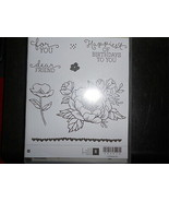 Stampin Up Wooden Stamp Set (new) BIRTHDAY BLOOMS (8 stamps) - $28.17