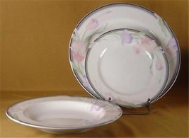 Nikita Fine China Japan set 8 pieces pink lavender floral plates saucers... - $22.49