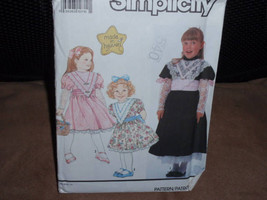 Simplicity 7034 Child's Dress in Two Lengths with Lace Trims and Sash Size 2 to  - $6.00