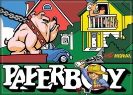 Midway Arcade Game Paperboy Classic Name Logo Refrigerator Magnet NEW UN... - $3.99