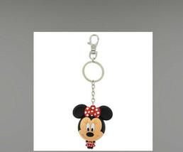 NWT Disney Parks Cuties Minnie Mouse Big Head Figure Keychain 3D - $12.86