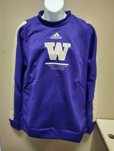 Adidas Washington Huskies Crew Sweatshirt Womens Small Purple GL5573 - $23.75