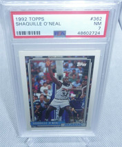1992 Topps Shaquille Oneal Rookie Card #362 PSA Graded NM 7 MAGIC HOT CARD - $118.79