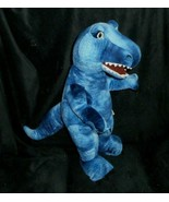 BUILD A BEAR BLUE REALISTIC DINOSAUR DINO T-REX STUFFED ANIMAL PLUSH TOY... - $28.05