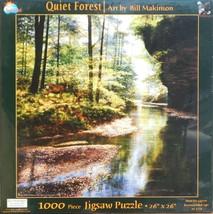 SunsOut Bill Makinson Quiet Forest 1000 pc Jigsaw Puzzle Sunrise River - $15.83