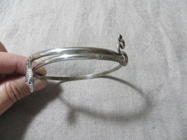 "Antique Victorian Sterling Wrap Snake Bangle Bracelet 2.5""  - $129.99"