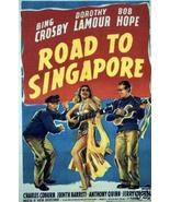 New Road to Singapore(1940)Bing Crosby Bob Hope Vintage-Style 12x18 Movi... - $10.29