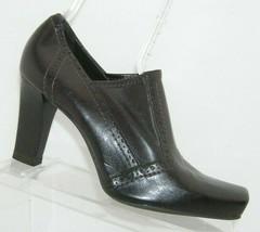 Franco Sarto 'Tribe' brown man made square toe brogue shootie heels 9.5M - $31.43