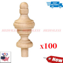 Brand New FN8075-100 Wooden Wood Finial Bag of 100  Fast Shipping!! - $41.58