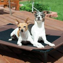 """KH Pet Products Original Pet Cot Elevated Pet Bed Large Chocolate/Mesh 30"""" x 42"""" image 3"""