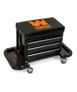 Mechanics Work Stool Garage Seat Creeper Shop Rolling Toolbox Glider Sto... - $80.09