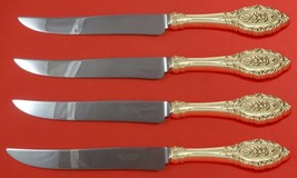 Grand Majesty by Oneida Sterling Silver Steak Knife Set 4pc Texas Sized Custom - $315.50