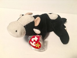 Ty Beanie Babies Plush Beanbag Daisy the Cow Black White ERRORS PVC Deut... - $751.14