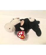 Ty Beanie Babies Plush Beanbag Daisy the Cow Black White ERRORS PVC Deut... - $751.14