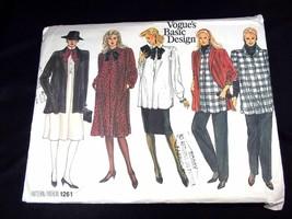 Vogue's Basic Design 1261 1986 Maternity jacket dress top skirt pants Sz... - $3.50